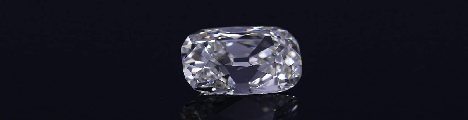 Old mine Cushion Elongated Diamond by GemConcepts