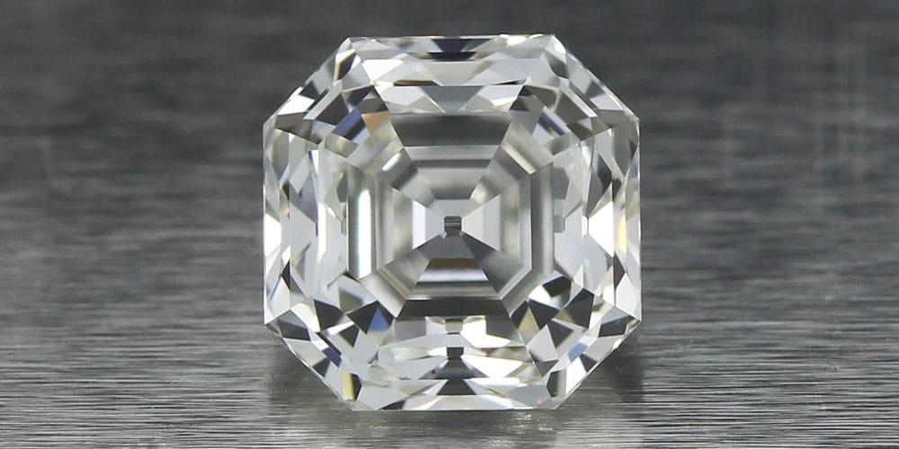 Asscher Cut Diamond face up
