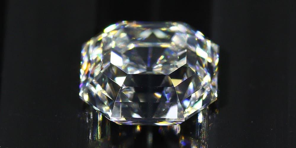 Asscher Cut Diamond side view
