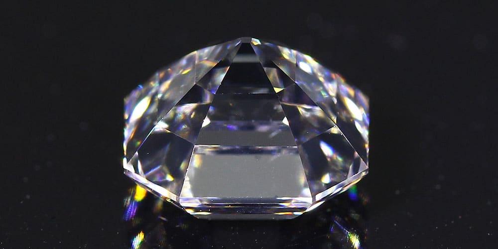 Asscher Cut Diamond bottom view