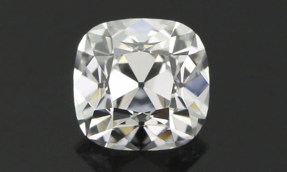 Innovative Old Mine Cut Diamond face up