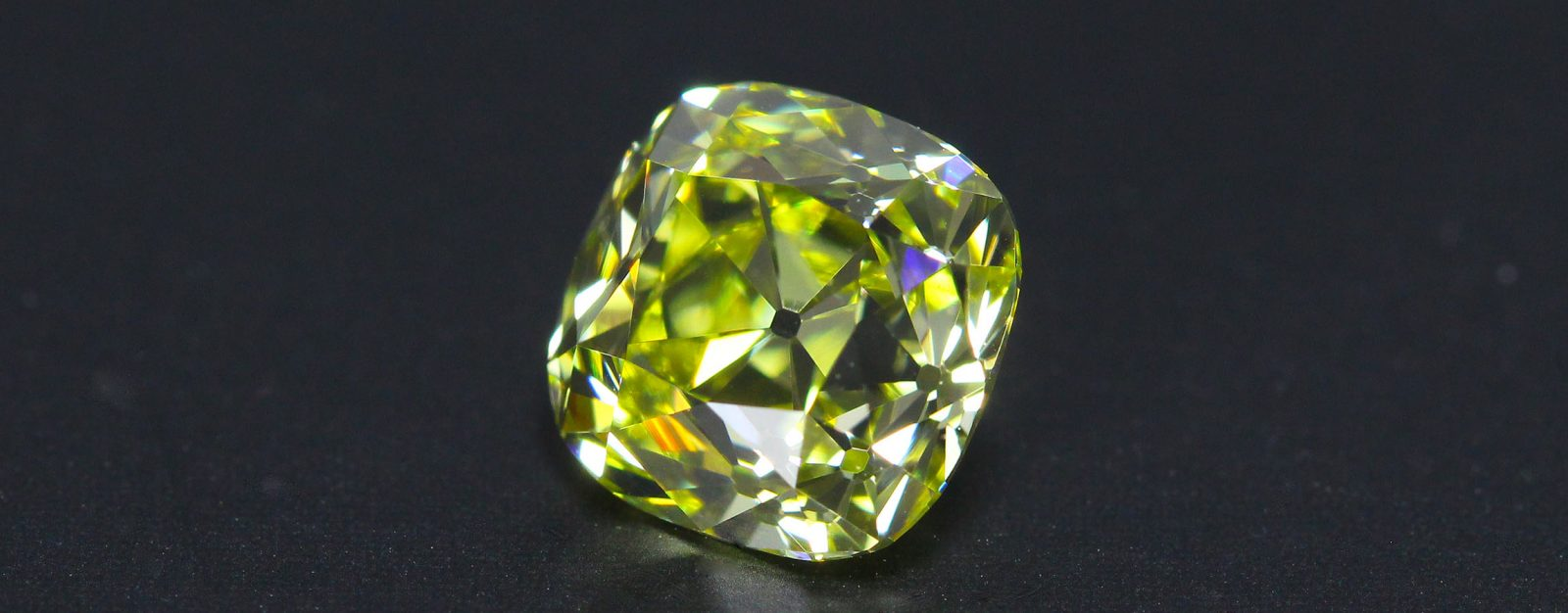 Fancy Intense Yellow Old Mine cut Diamond