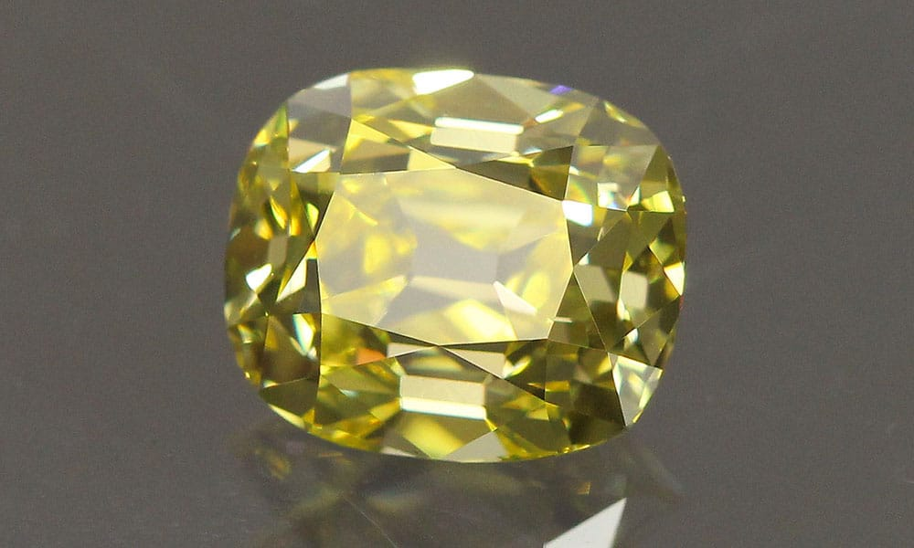 Elongated Canary Old Mine Cut Diamond