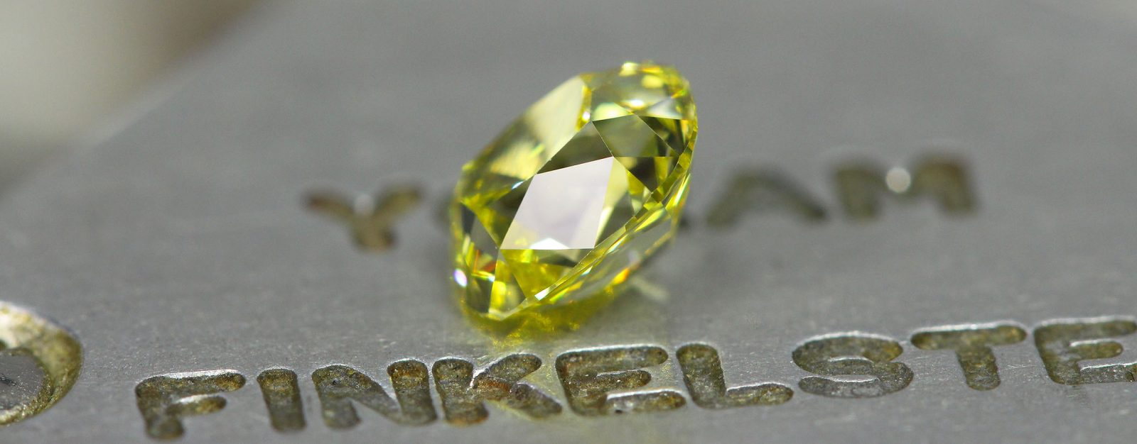 slightly elongated Canary Old Mine Cut Diamond