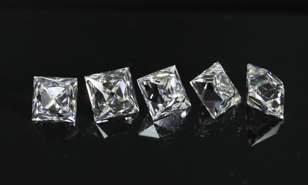 half carat French Cut Diamonds
