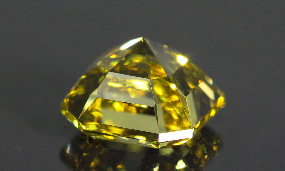 Fancy Deep Yellow Asscher Cut Diamond