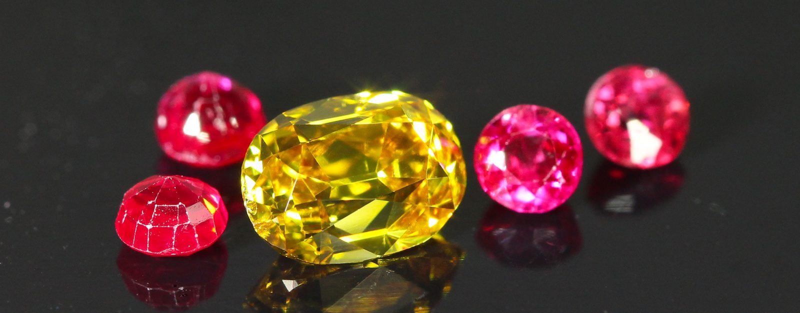 Gold Colored Old Mine Cut Diamond