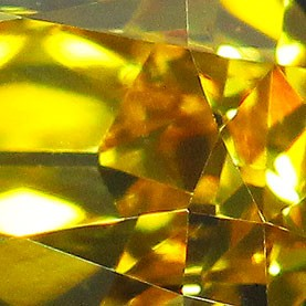 Gold Colored Old Mine Cut Diamond