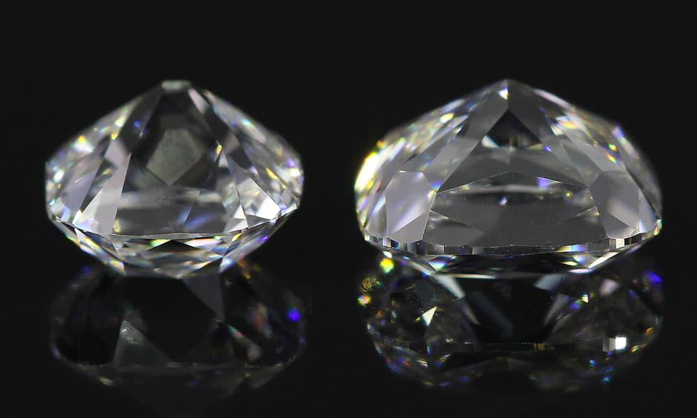 Old Mine cushion cut Diamonds