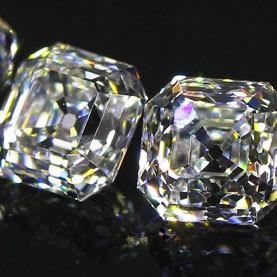 7 Stone Vintage Asscher Cut Style Diamond line