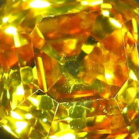 Orange-Yellow Vintage style Asscher Cut Diamonds