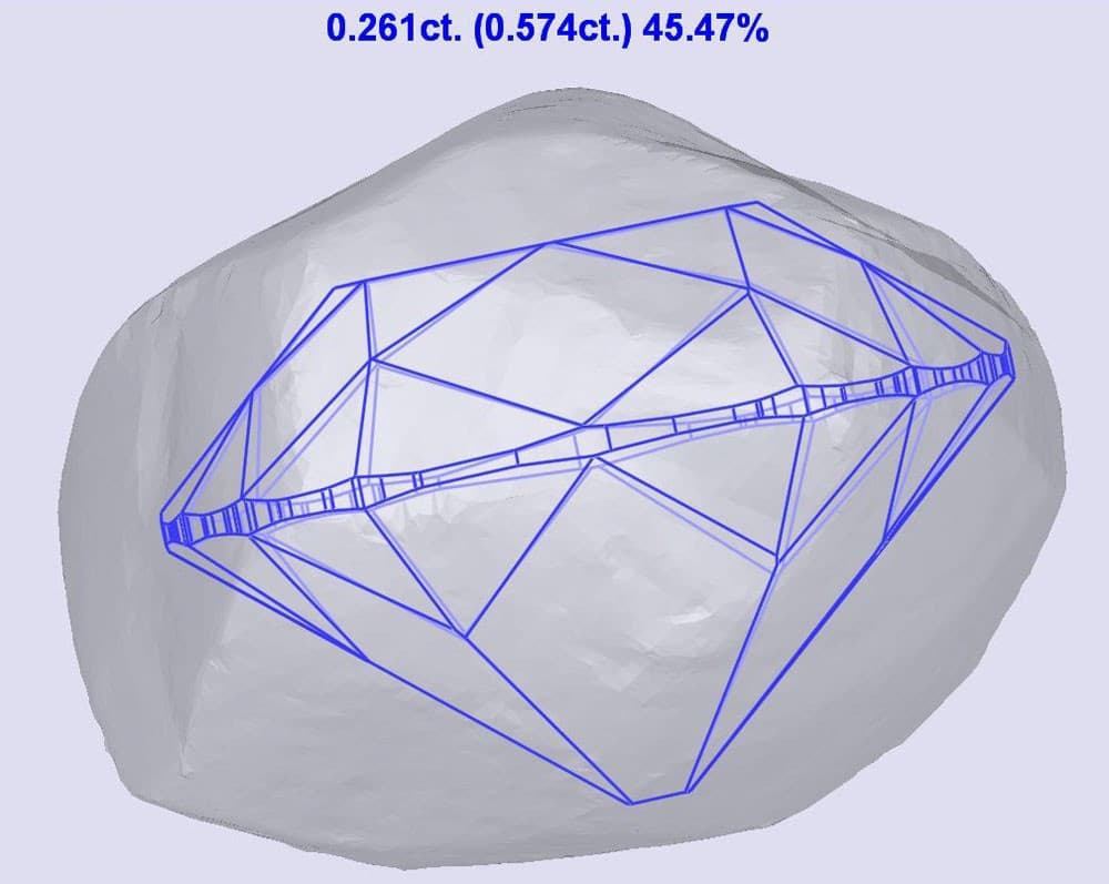 Old Mine Cut being allocated in 3D rough model