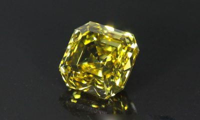 Fancy Deep Yellow Asscher Cut 1.85 carat
