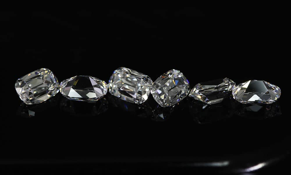 Elongated Old Mine Cut Diamonds Suite