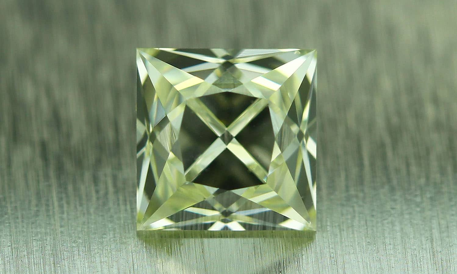 Yellowish French Cut Diamond 0.53 carat