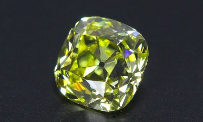 A Fancy Intense Yellow Old Mine Cut Diamond