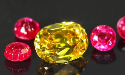 Gold Colored Old Mine Cut Cut 0.47 carat