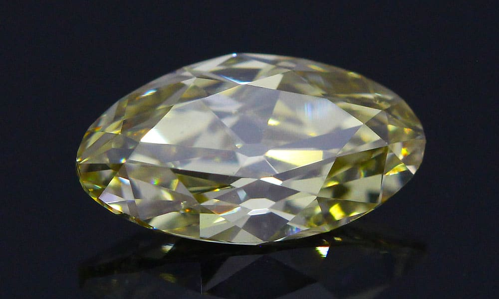 Fancy Yellow-Brown Old Style Moval Brilliant 0.52 carat