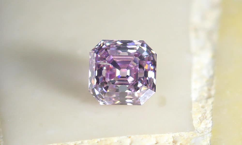 Fancy Purple Pink Asscher Cut 0.10 carat