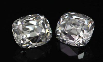 1.22 carat total weight Old Mine Cushion Matching Pair