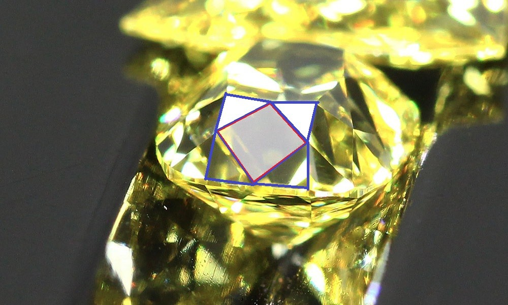 Triangular and lozenge diamond facets