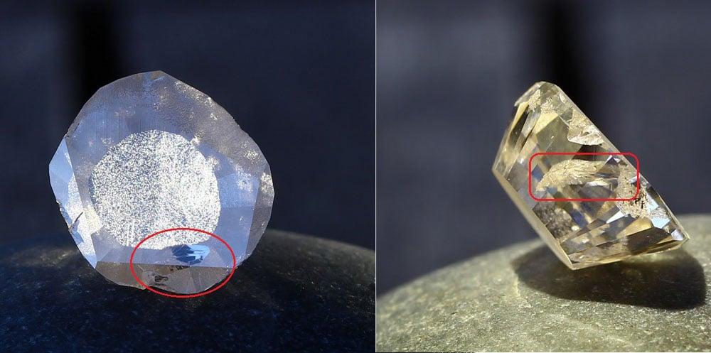 cutting lab grwon diamond to mogul cut bumping a feather